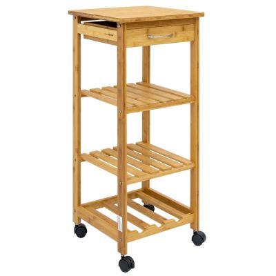 Dune Design® Bambus Küchenwagen Servierwagen Holz Rollwagen holzfarben