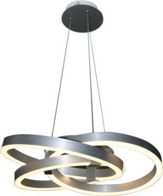 Näve Smart Home LED Pendelleuchte Divora, Ø55cm silber
