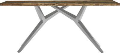 SIT Esstisch braun/silber Gr. 85 x 160