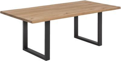 SIT Esstisch, 200x100x76cm braun/schwarz Gr. 200 x 100
