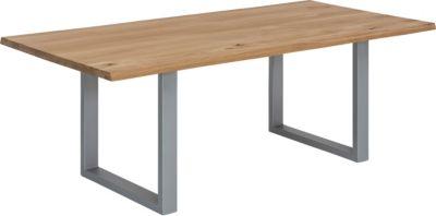 SIT Esstisch, 200x100x76cm braun/silber Gr. 200 x 100