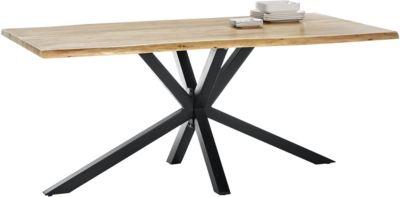 SIT Esstisch, 200x100x80cm braun/schwarz Gr. 200 x 100