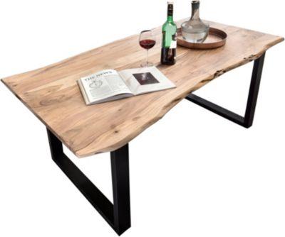 SIT Akazien-Massivholz Esstisch in verschiedenen Größen braun/schwarz Gr. 90 x 180