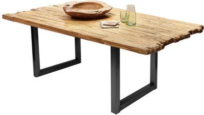 SIT Esstisch aus recyceltem Teakholz in verschiedenen Größen braun/schwarz Gr. 100 x 180