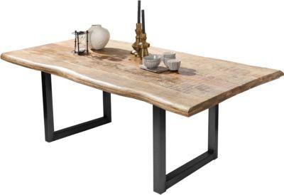 SIT Mango-Massivholz Esstisch in verschiedenen Größen braun/schwarz Gr. 90 x 160