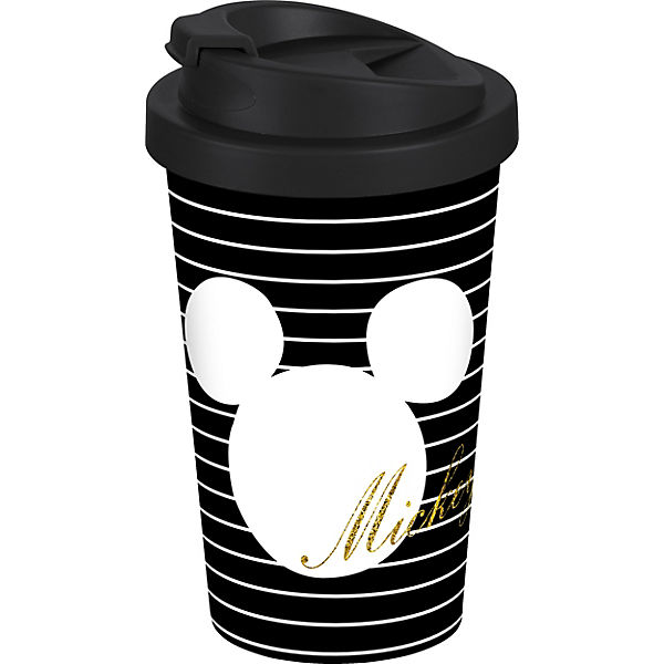"Coffee to go Becher ""Mickey"" Gold Glitzer, 400ml"