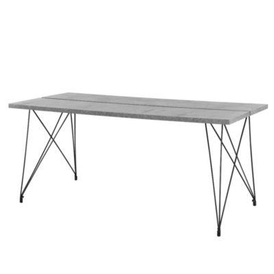 en.casa Esstisch Küchentisch 178x78x77cm Esszimmertisch in verschiedenen Farben grau