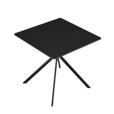 en.casa Esstisch Küchentisch 60x60cm/78x78cm Konferenz-Tisch in verschiedenen Farben schwarz