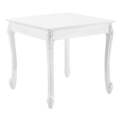 en.casa Esstisch Küchentisch im Landhausstil Weiß Esszimmertisch Tisch Esszimmer in verschiedenen Größen weiß