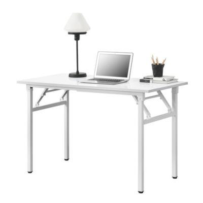 en.casa Klapptisch in verschiedenen Farben Schreibtisch Bürotisch Computertisch Tisch weiß