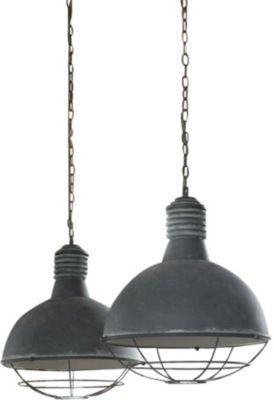 SalesFever Metall Hängeleuchte 110x150 cm dunkelgrau