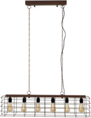 SalesFever Hängeleuchte 95x150 cm, 6-flammig braun