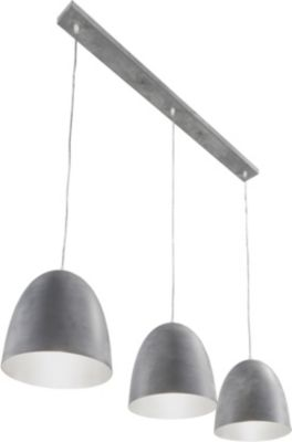 SalesFever Metall Hängeleuchte 125x180 cm, 3-flammig grau