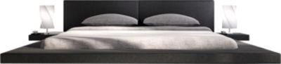 SalesFever Kunstleder Polsterbett, inkl. LED-Beleuchtung, in versch. Größen schwarz Gr. 140 x 200