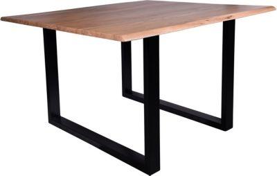 SIT Esstisch in verschiedenen Größen braun/schwarz Gr. 120 x 120