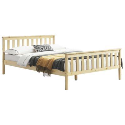 en.casa Holzbett Doppelbett in verschiedenen Größen 140/180x200cm und Farben holzfarben Gr. 180 x 200