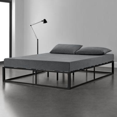 en.casa Metallbett Ehebett Doppelbett mit Lattenrost in verschiedenen Farben und Größen schwarz Gr. 200 x 200