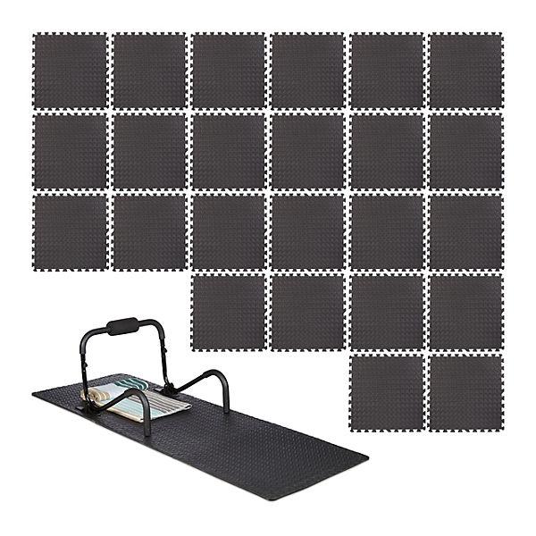 und Trittschutz Puzzlematten 24er Set Bodenschutzmatten Unterlegmatten als Lärm