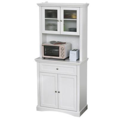 HOMCOM Küchenschrank mit Schublade weiß
