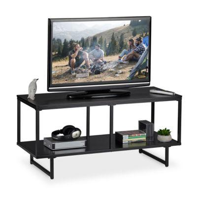 relaxdays TV Lowboard MDF in Schwarz schwarz