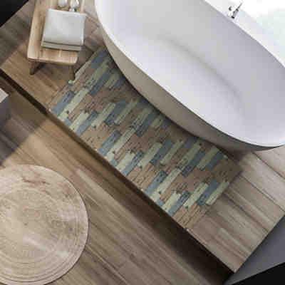 Weichschaummatte Badezimmer Blau Relaxdays Yomonda