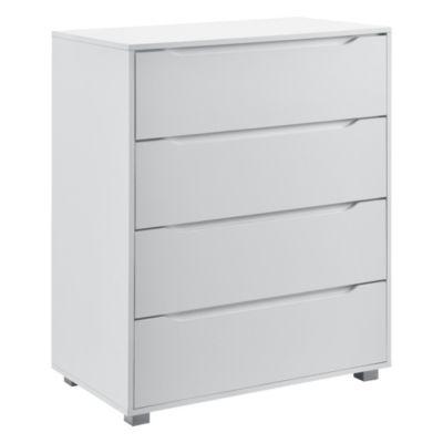 en.casa Kommode Sideboard mit Schubladen in verschiedenen Farben und Größen weiß