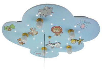 NIERMANN Deckenleuchte Wolke,  Wilde Tiere Deckenleuchten mehrfarbig