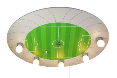 NIERMANN Deckenleuchte Fußball-Stadion grün/silber