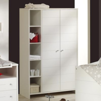 Kleiderschrank ECO STRIPE, weiß, 2-türig