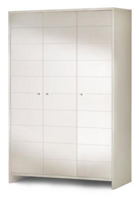 Kleiderschrank ECO STRIPE, weiß, 3-türig