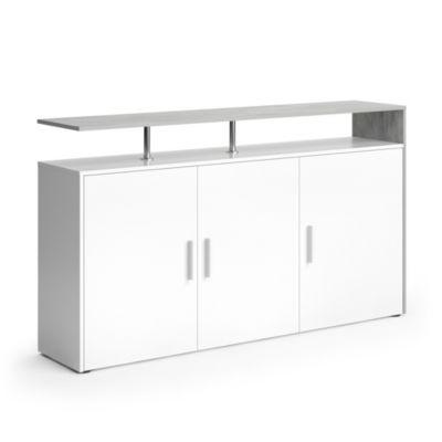 Sideboard Amato 160 cm Weiß Beton weiß
