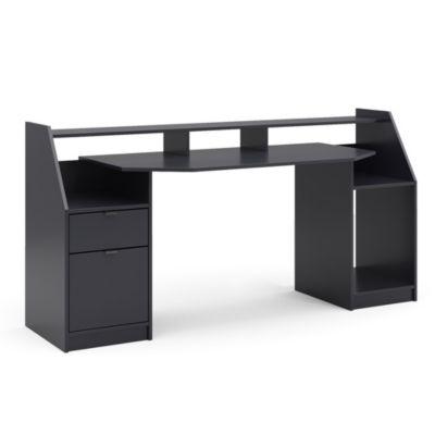 Computertisch Joel Groß Schwarz schwarz