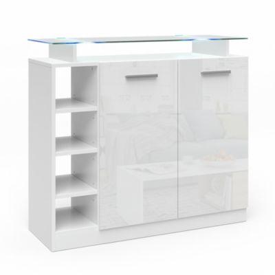 Kommode Asti mit 2 Türen und LED Beleuchtung weiß