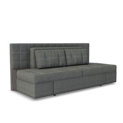 Schlafsofa mit Bettfunktion 235 x 105 cm Grau grau