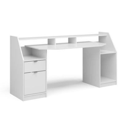 Computertisch Joel Groß PC-Tisch Weiß Gamingtisch Schreibtisch Büromöbel weiß
