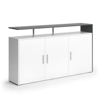 Sideboard Amato 160 cm Weiß Anthrazit anthrazit