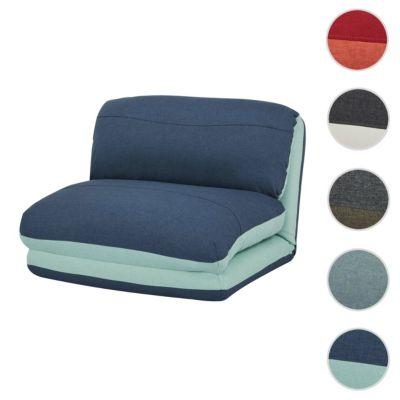 HWC Mendler Relaxsessel ausklappbar blau