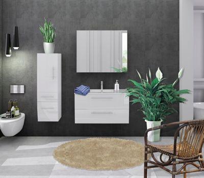 Möbilia 3-tlg. Badezimmer-Set weiß