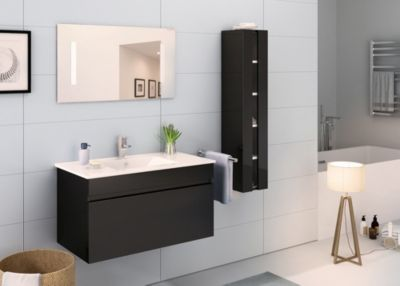 Möbilia 3-tlg. Badezimmer-Set schwarz