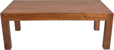 Möbilia Couchtisch, B110xT60xH40cm hellbraun Gr. 60 x 110