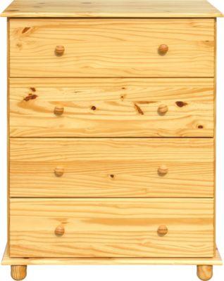 Möbilia Kommode, B80xT43xH102cm hellbraun