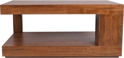 Möbilia Couchtisch, B90xT60xH40cm hellbraun