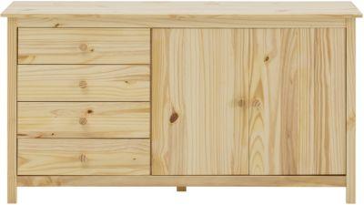 Möbilia Sideboard, B150xT40xH80cm hellbraun