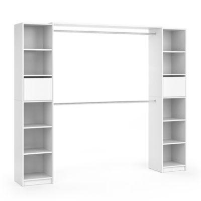 Kleiderschrank GUEST XL Weiß weiß