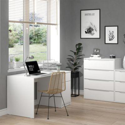 Schreibtisch Bürotisch Computertisch Ruben 140x65cm Arbeitstisch Büromöbel weiß