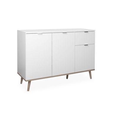 HTI-Living Kommode Göteborg mit vier Fächern und einer Schublade weiß