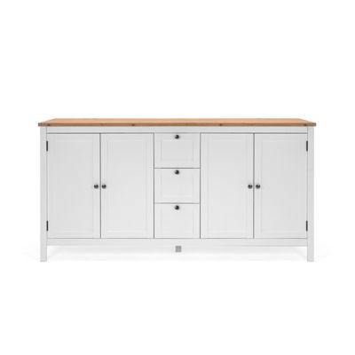 HTI-Living Sideboard Bergen mit 4 Türen und 3 Schubladen weiß