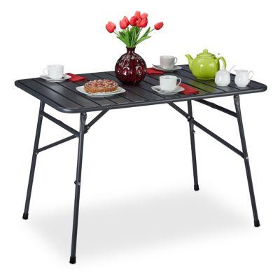 relaxdays Gartentisch klappbar Metall anthrazit