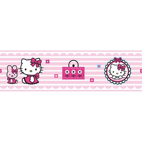 Bordüre Hello Kitty, 5 m x 15,9 cm