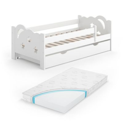 Kinderbett Sari 140 x 70 cm Weiß mit Matratze weiß Gr. 70 x 140